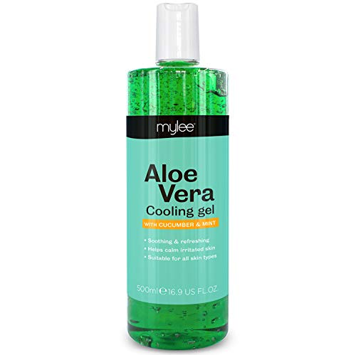 Mylee Pure Aloe Vera Soothing Gel After Care Waxing Hair Removal Depilation Wax Skin Treatment After Sun 500 ml from MYLEE