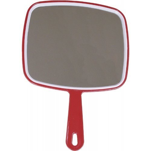 Salon Hairdressing Large Hand Held Mirror (Red) from Macintyre