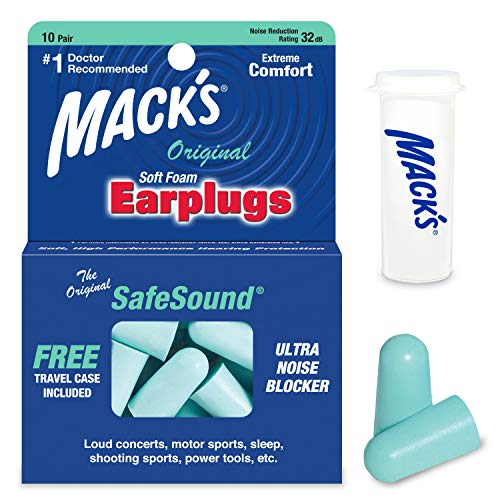Mack's Unisex's Original Ear Plugs (10 Pair) -Mint Green, (1 Pack) from Mack's