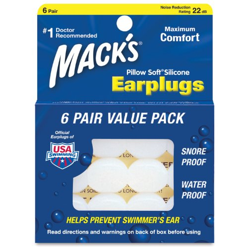 Mack's Pillow Soft Silicone Earplugs (4 Pack) from Mack's