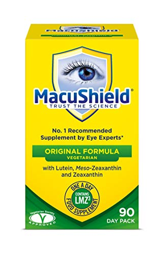 Macushield Eyecare Supplement Capsules - Pack of 90 Vegetarian Capsules from Macushield