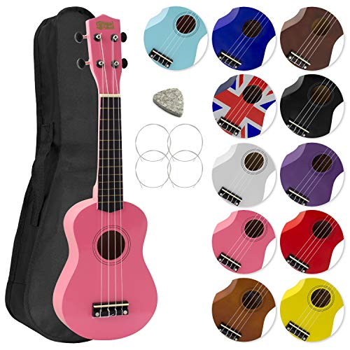 Soprano Ukulele for Beginners and Gig Bag - Pink from Mad About