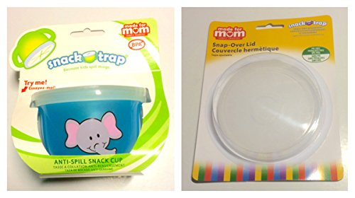 Snack-Trap Anti-Spill Snack Cup Blue from Made for Mom