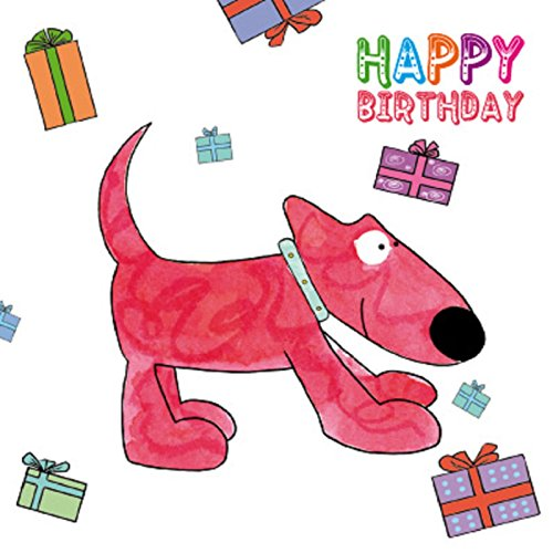 Red Dog Easel Greetings Card from Magnet and Steel