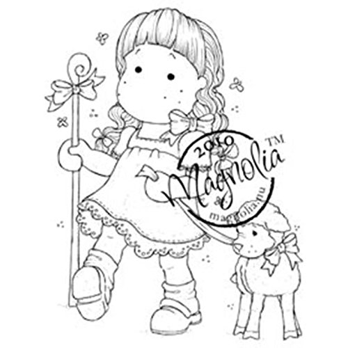 Magnolia Rubber Hoppy Easter Cling Stamp 3.75-inch x 5.5-inch Package-Tilda As Shepherd from Magnolia