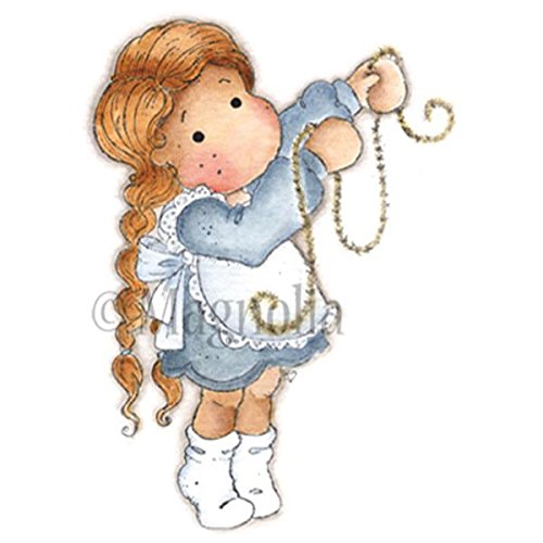 Magnolia Rubber Sweet Dreams Christmas Cling Stamp 6.5-inch x 3.5-inch Package-Glittering Tilda from Magnolia