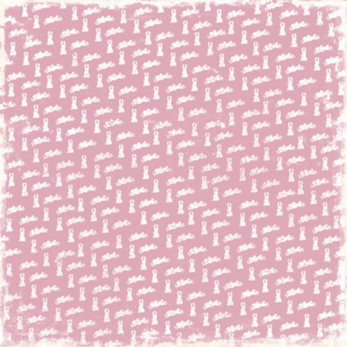 Magnolia Somebunny Loves You Heavyweight Cardstock 12-inch x 12-inch-Pink Bunny (Pack of 25) from Magnolia