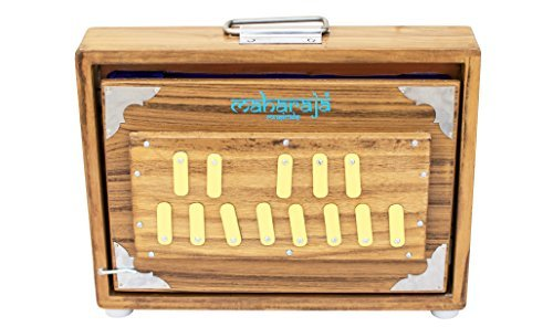 Maharaja Musicals Shruti Box - Teak Wood Surpeti - 13 Drone Notes C-to-C Shruthi Indian Musical Instrument (PDI-ABC) from Maharaja Musicals