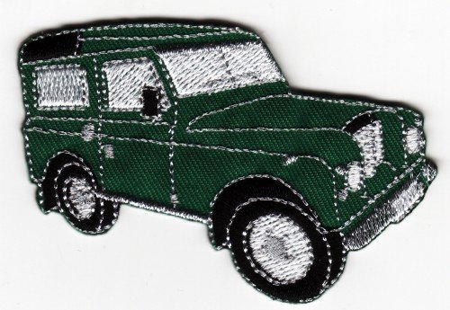 Landrover Sew-on Iron-on Embroidered Patch Green Land Rover Badge from Mainly Metal