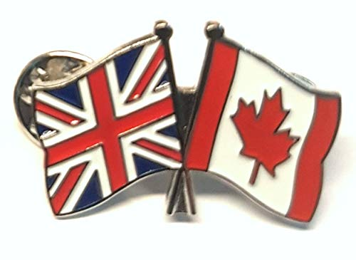 Mainly Metal ™ Enamel Pin Badge Friendship Canada UK GB (United Kingdom Great Britain) from Mainly Metal