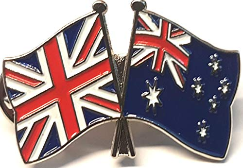 Mainly Metal ™ Enamel Pin Badge Friendship Flags Australia UK GB (United Kingdom Great Britain) 30mm from Mainly Metal