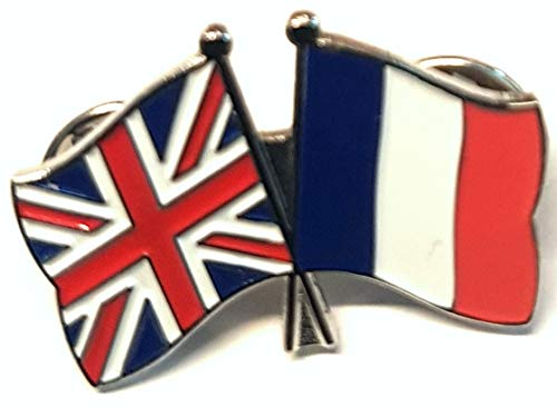 Mainly Metal ™ Enamel Pin Badge Friendship France UK GB (United Kingdom Great Britain) 30mm from Mainly Metal
