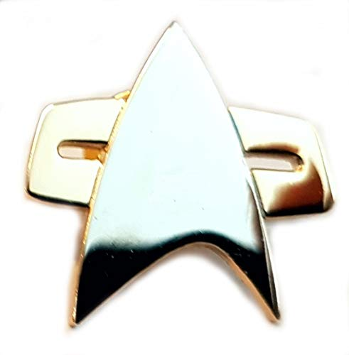 Mainly Metal Gold Plated Pin Badge Star Trek Voyager Communicator (25mm) from Mainly Metal