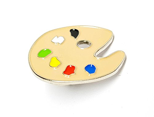 Metal Enamel Pin Badge Artist Paint Palette (Painter) (27mm) from Mainly Metal