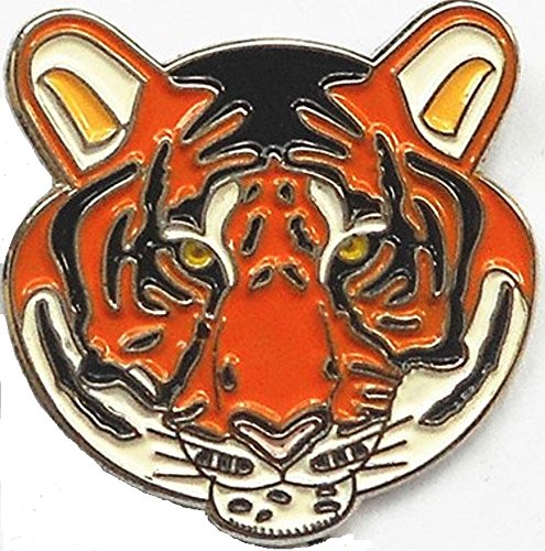 Metal Enamel Pin Badge Brooch Bengal Tiger Face from Mainly Metal