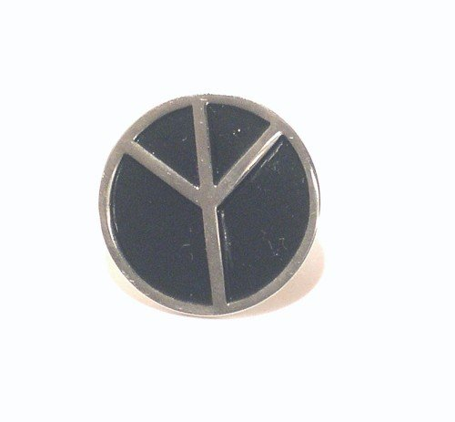 Metal Enamel Pin Badge Brooch Black CND Peace Sign Symbol from Mainly Metal