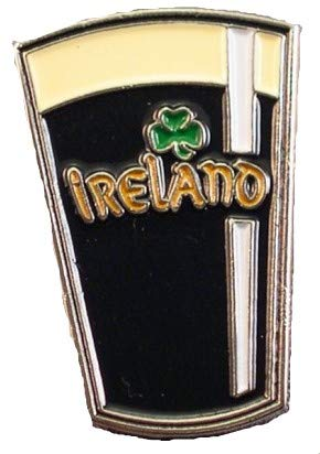 Metal Enamel Pin Badge Brooch Drink Irish Beer Guiness Glass from Mainly Metal