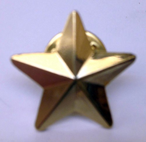 Metal Enamel Pin Badge Brooch Gold Star (Gold plated) (3D) from Mainly Metal