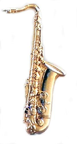 Metal Enamel Pin Badge Brooch Jazz Big Band Music Saxophone (Gold Plated) Saxaphone Sax from Mainly Metal