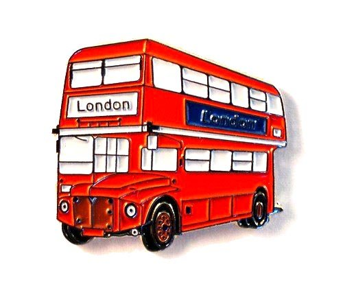 Metal Enamel Pin Badge Brooch London Bus (Routemaster) 25mm from Mainly Metal