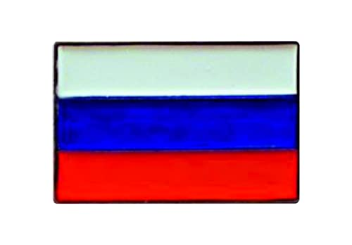 Metal Enamel Pin Badge Russian Flag (Russia) from Mainly Metal