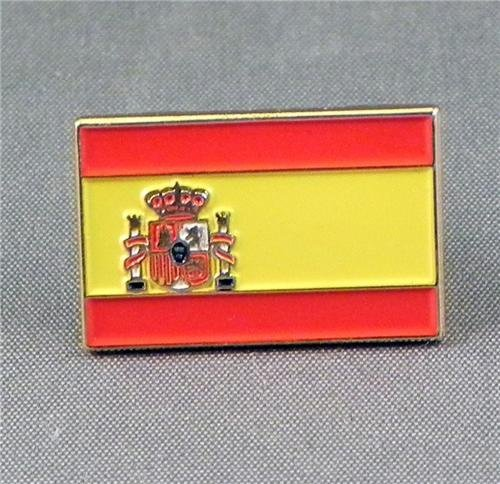 Metal Enamel Pin Badge Brooch Spanish Flag (Spain Espana) from Mainly Metal