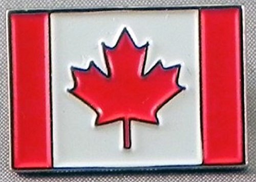 Metal Enamel Pin Badge Canada Flag Canadian Maple from Mainly Metal