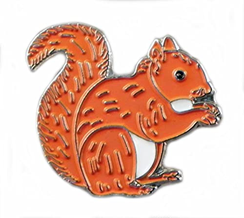 Metal Enamel Pin Badge Countryside Red Squirrel from Mainly Metal