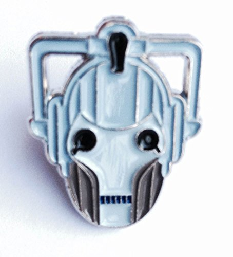 Metal Enamel Pin Badge Doctor Dr. Who Enemy Cyberman (Cyber Man Face) from Mainly Metal