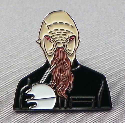Metal Enamel Pin Badge Doctor Dr. Who Enemy - Ood from Mainly Metal