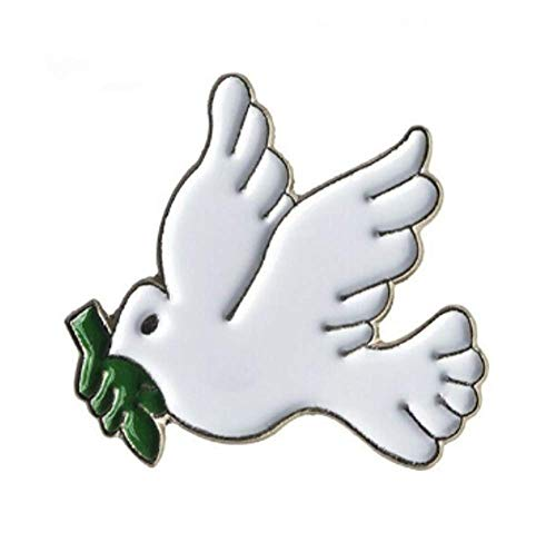Metal Enamel Pin Badge Dove of Peace from Mainly Metal