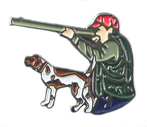Metal Enamel Pin Badge Hunter with Dog from Mainly Metal