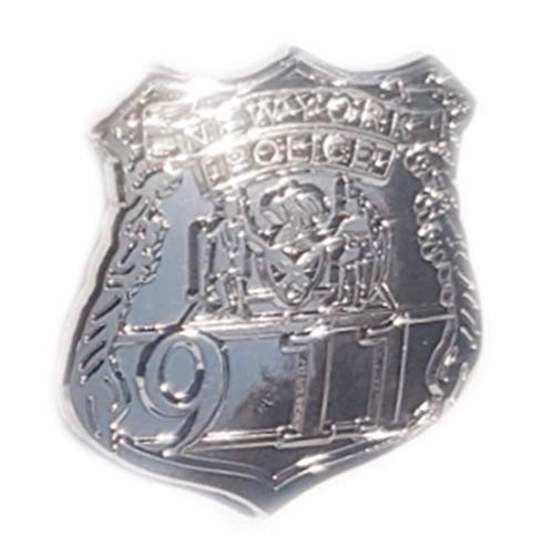 Metal Enamel Pin Badge US New York Police Department NYPD Shield (Chrome finish) from Mainly Metal