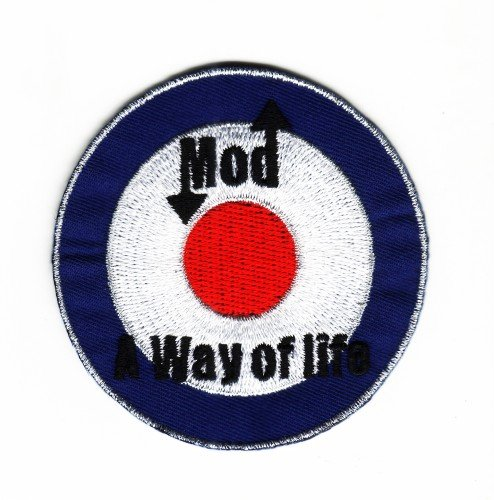 Mod Way of Life Roundel Sew-on Iron-on Embroider Patch Northern Soul Badge from Mainly Metal