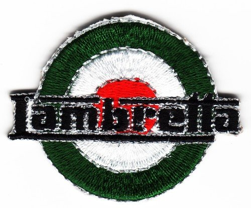 Sew-on Iron-on Embroidered Patch Badge MOD Target Italia Lambretta (Italy) from Mainly Metal