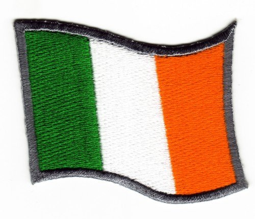 Sew-on Iron-on Embroidered Patch Irish Waving Ireland Eire Flag Badge from Mainly Metal