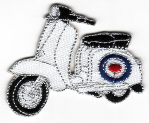 Sew-on Iron-on Embroidered Patch Lambretta Scooter MOD Roundel RAF Target Badge from Mainly Metal