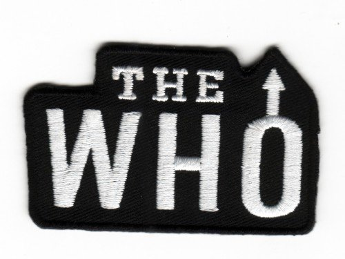 Sew-on Iron-on Embroidered Patch The Who from Mainly Metal