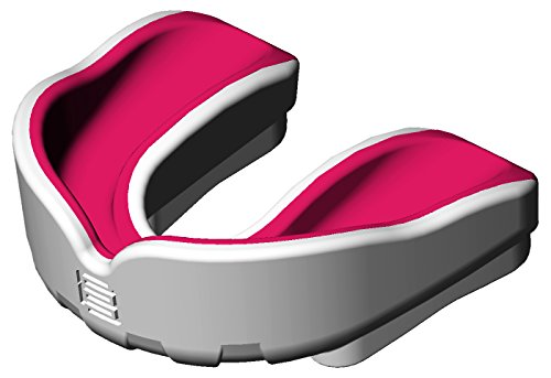 Makura Ignis Mouthguard (Polar White/Electric Pink, Junior) from Makura