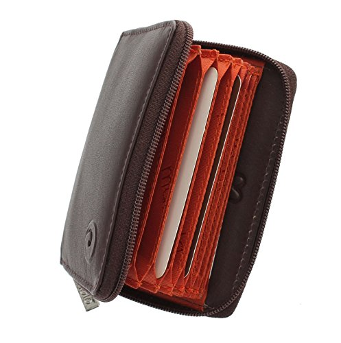 RRP £19.50 Mala Leather small leather credit card holder button design RFID