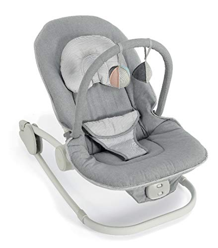 Mamas & Papas Wave Baby Rocking Cradle, Grey Melange from Mamas & Papas