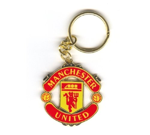 OFFICIAL MANCHESTER UNITED CREST SHAPED KEYRING from Manchester United F.C.