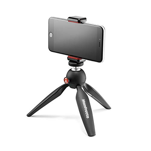 Manfrotto Mini Tripod with Universal Smartphone Clamp, Black from Manfrotto