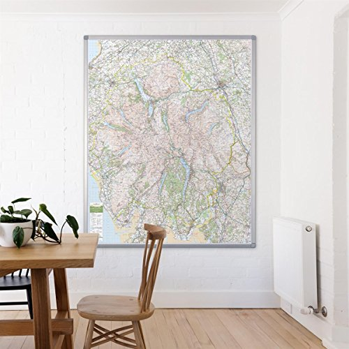 Lake District - UK National Park Wall Map - Laminated from Map Marketing