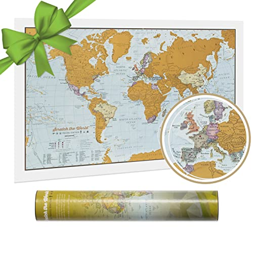Maps International - Scratch the World® - Travel Edition Map Print - 42 x 29.7cm from Maps International