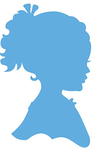 Marianne Design Silhouette Girl with Ponytail Creatables Die, Blue from Marianne Design
