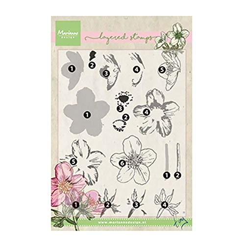 Marianne Design Tiny's Helleborus Clear Layering Stamp Set, Synthetic Material, 22.7 x 12.9 x 0.4 cm from Marianne Design