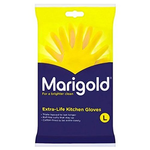 Marigolds Extra Life Kitchen Glove Large 1 x 6 pairs from Marigold