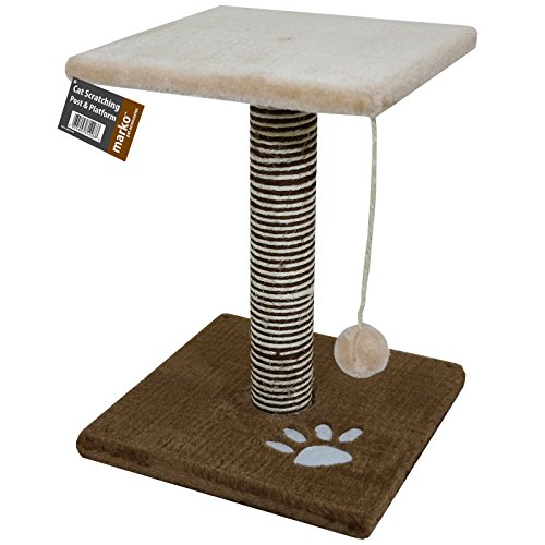 Cat Scratching Post Activity Centre Play Area Scratcher with Platform & Ball NEW from Marko Pet Accessories