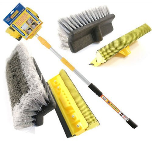 Marksman MT63210 3M 9FT Aluminium Telescopic Water FED Window CAR Van WASH Brush EXTENDABLE from Marksman
